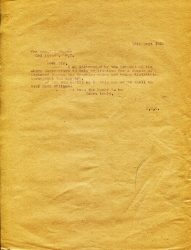 A letter of request from Sept 1920