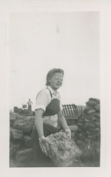 Ragna working at the Peat Plant c.1940s