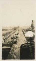 The unloading area of the Alouette Peat Farm c.1940s
