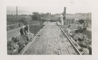 Where Peat is unloaded near the shed at the Alouette Peat Farm c.1940s