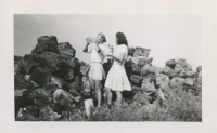 Signe Austring and Nellie MacDougal working at the Peat Plant c.1940s
