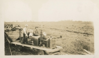 Several People working at the Alouette Peat Farm c.1940s