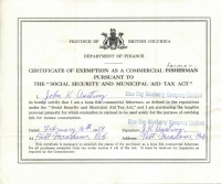 Certificate of Exemption as a Commercial Farmer