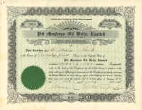 Pitt Meadows Oil Wells Limited stock share certificate