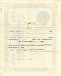 The back of the Oil Wells Limited stock share certificate