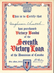 The Pitt Meadows Anglican Church Seventh Victory Bond