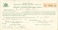 Robert Struthers Resident Firearms Licence