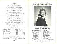 Brochure for Pitt Meadows Day 1965