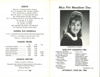 Brochure for Pitt Meadows Day 1966