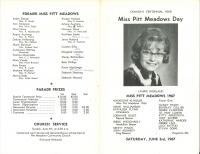 Brochure for Pitt Meadows Day 1967