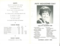 Brochure for Pitt Meadows Day 1969