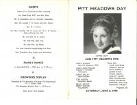 Brochure for Pitt Meadows Day 1970