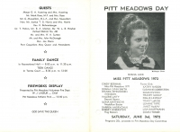 Brochure for Pitt Meadows Day 1972
