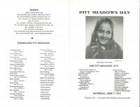 Brochure for Pitt Meadows Day 1975