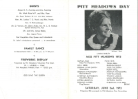 Brochure for Pitt Meadows Day 1973