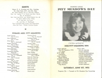 Brochure for Pitt Meadows Day 1974