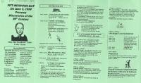 Brochure for Pitt Meadows Day 1999