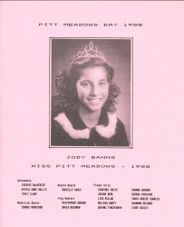 Brochure for Pitt Meadows Day 1988
