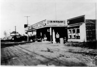 Copy photo of Pitt Meadows Garage on Harris Road, 1920