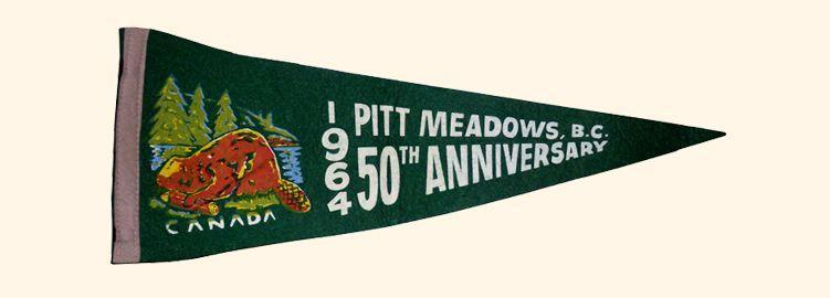 Pitt Meadows 1964 Beaver Pennant