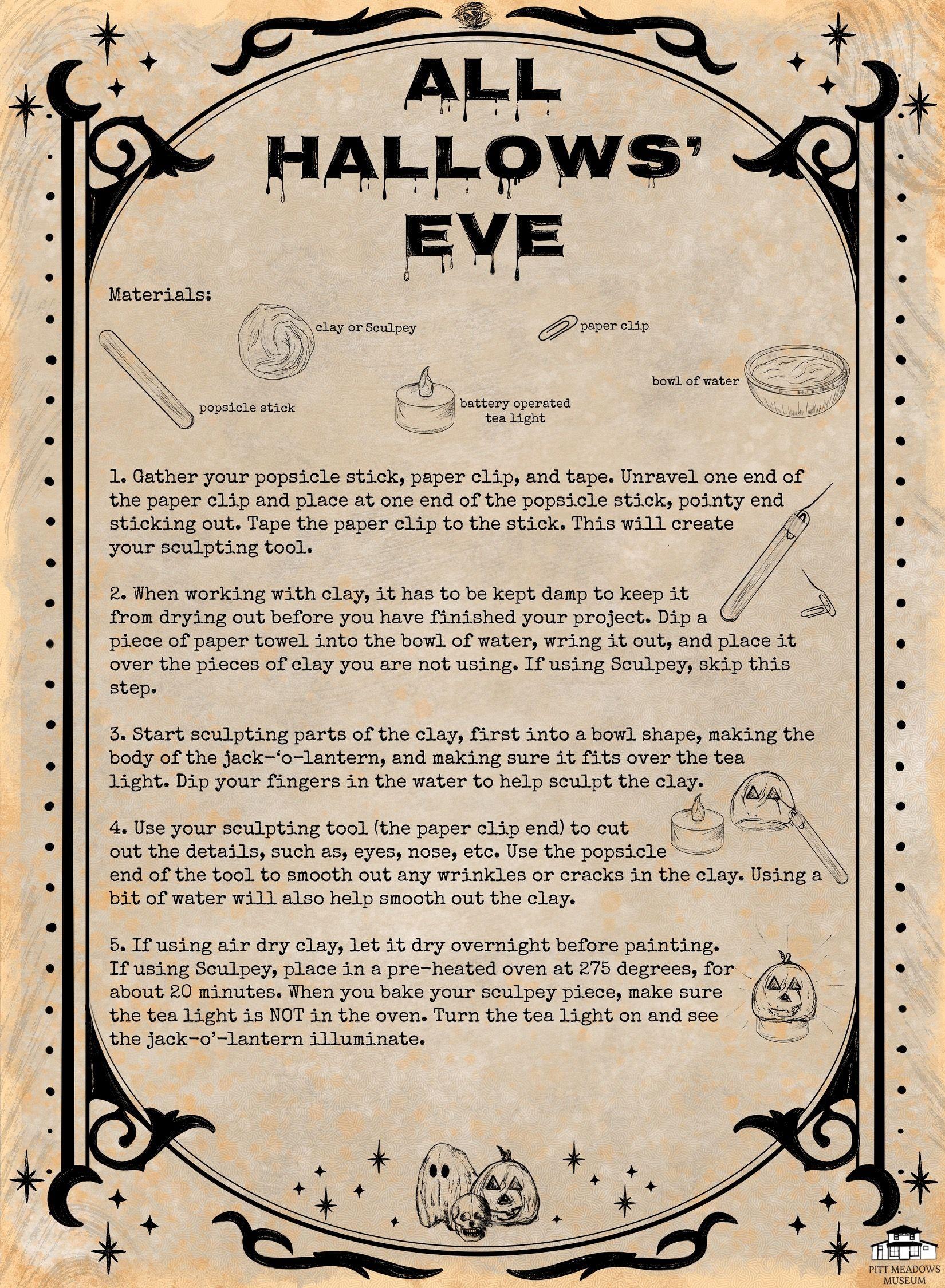 All Hallows Eve Craft