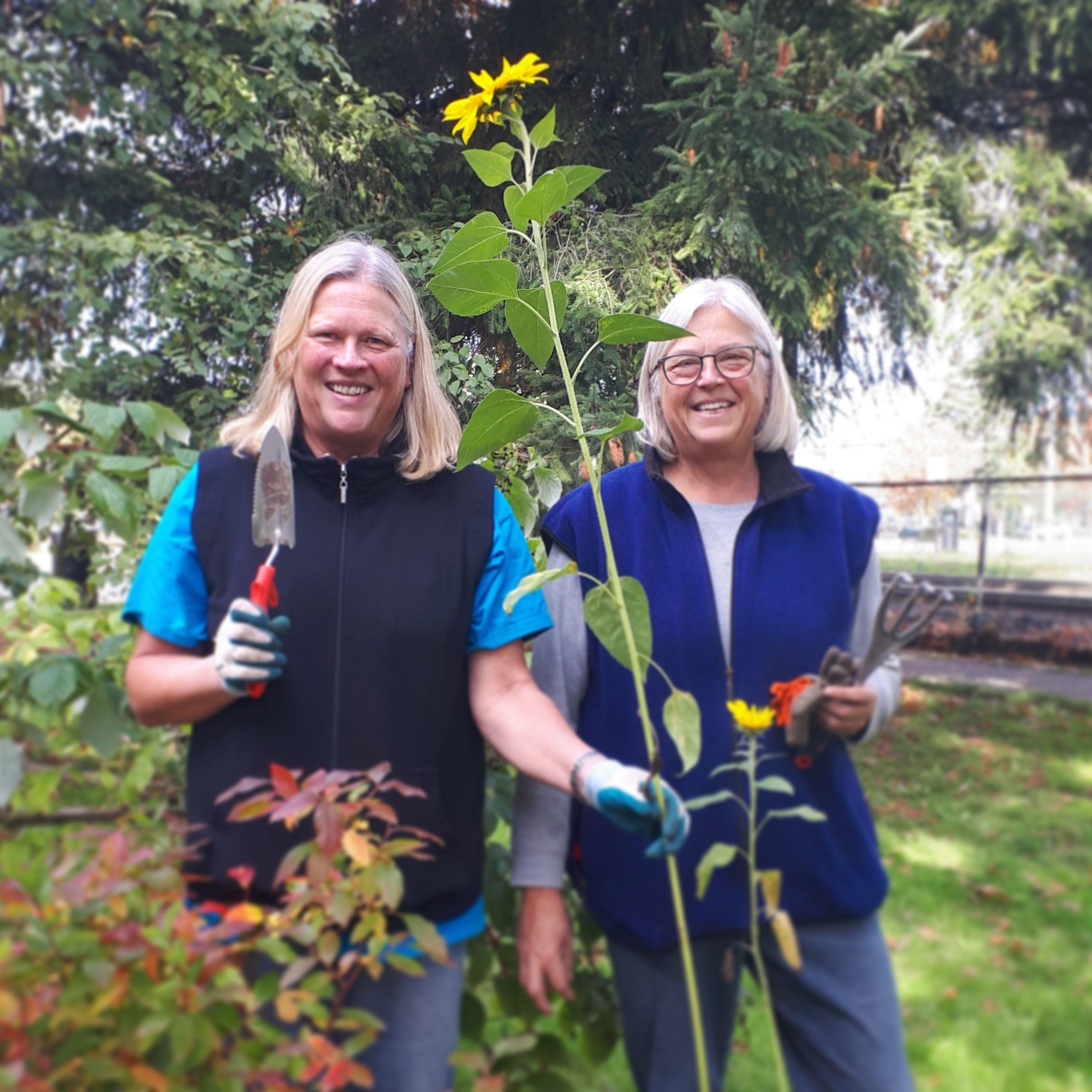 Garden crew at the Pitt Meadows Museum