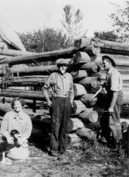 Doris Sharpe, Bob Moleson, and Eugene Sharpe.
