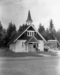 Community Church on Harris Road in 1955