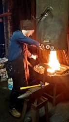 Jordan Turner at the Hoffmann Forge