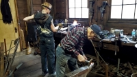 Luke Detheridge and John Adolph at the Hoffmann Forge