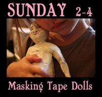 Masking Tape Dolls at the Pitt Meadows Museum