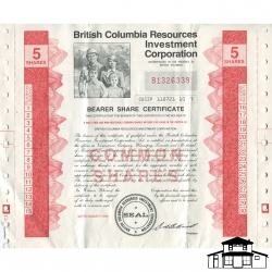 British Columbia Resources Investment Corporation Share